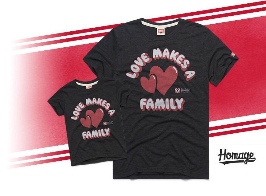 homage love makes a family tshirt